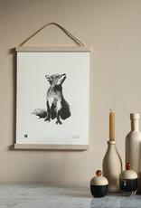 Teemu Jarvi Poster 'Fox' 30x40 cm