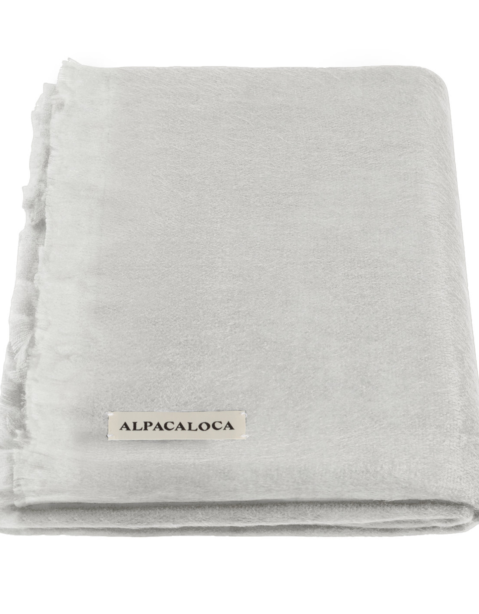 Alpacaloca Sjaal Licht Grijs