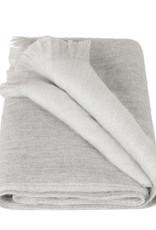 Alpacaloca Alpaca Scarf Double Grey/White