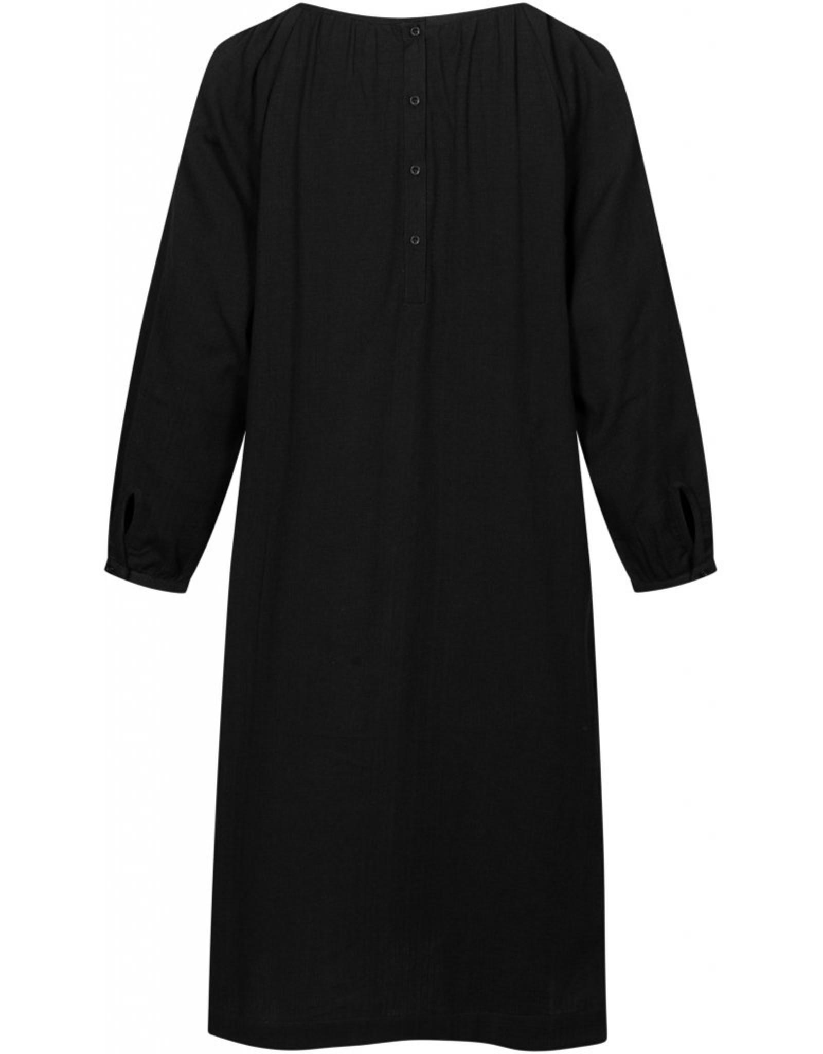 Gai&Lisva Ea jurk zwart - katoen