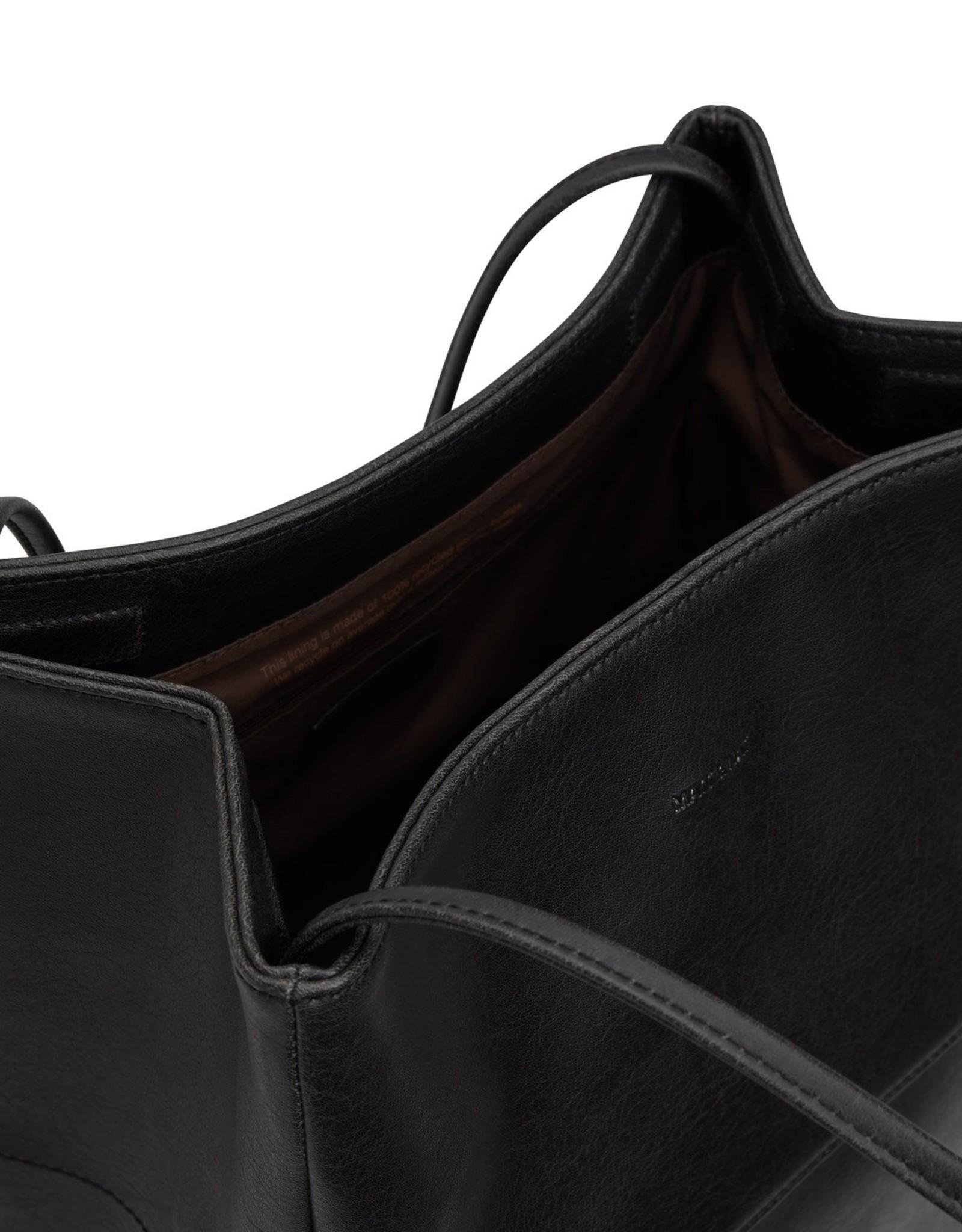 Matt&Natt schouder / tote-tas Willa zwart