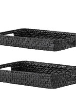 Bloomingville Tray Black Bamboo
