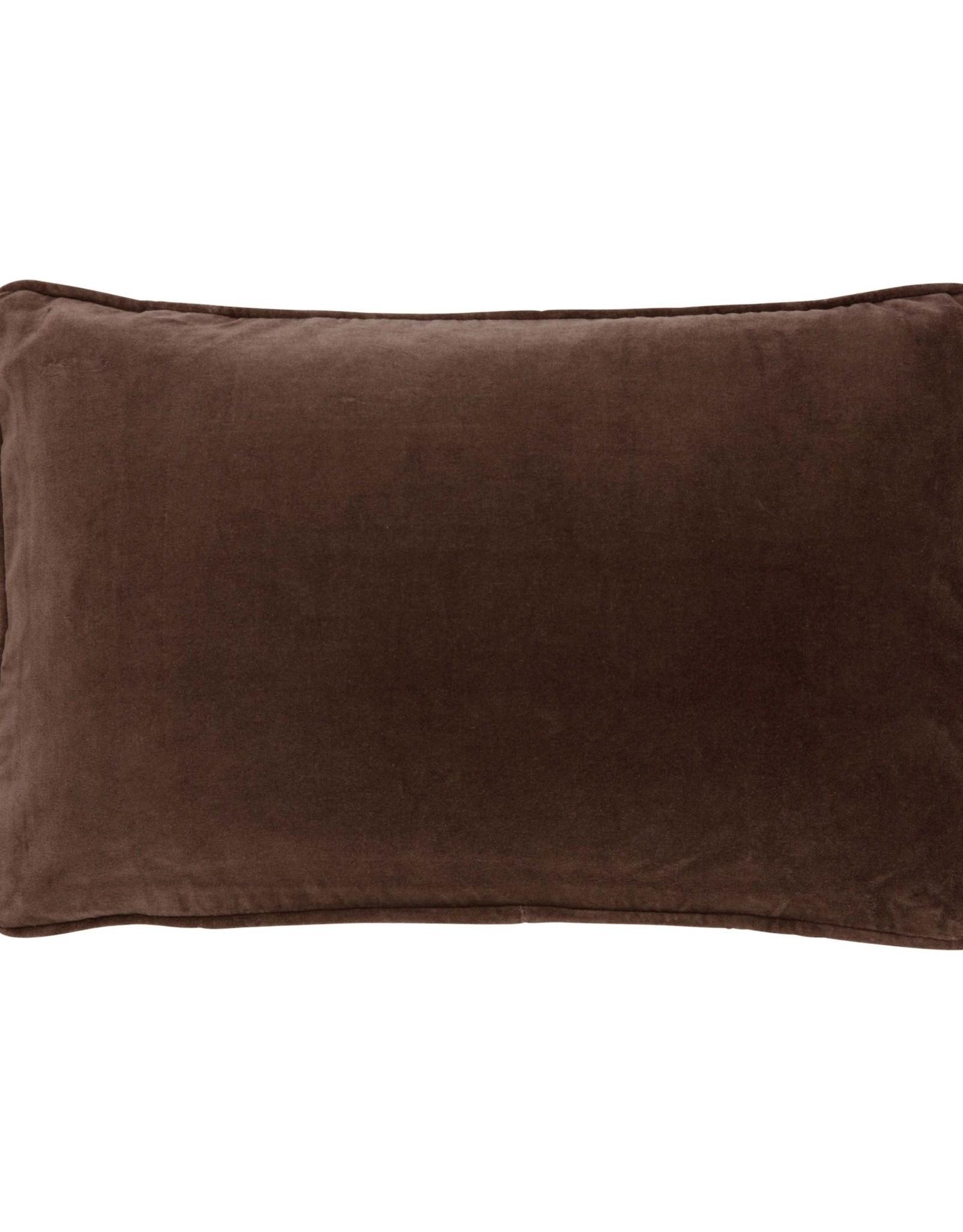 Bungalow Kussenhoes Velvet Chocolate - 33 x 50 cm