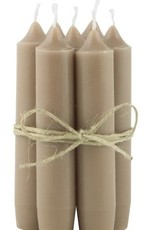 IBLaursen Short candle milky brown