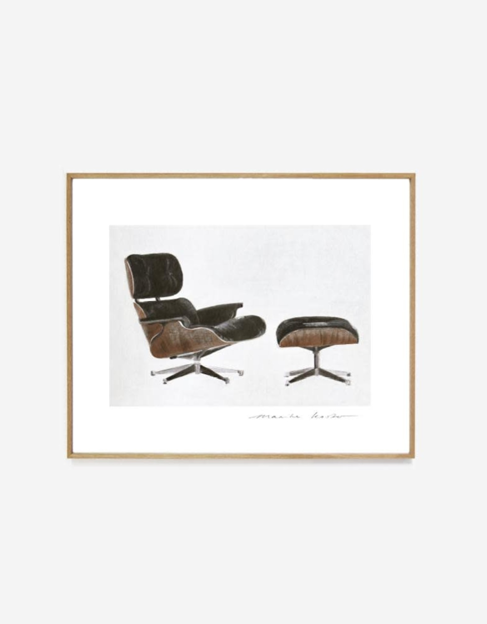 """My Deer Art Shop """"Eames Lounge"""" 30x40 Limited edition"""