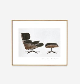 "My Deer Art Shop ""Eames Lounge"" 30x40 Limited edition"