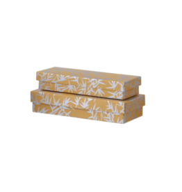 Bungalow Pencil Box/Gift Wrapping Ayushi Ochre