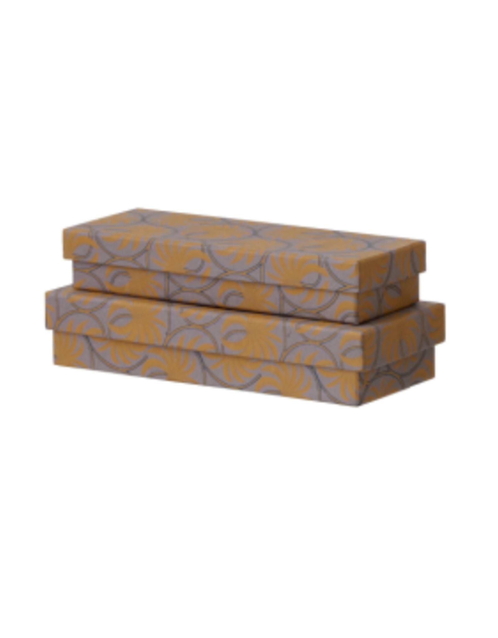 Bungalow Pencil Box/Gift Wrapping Ayushi Ochre