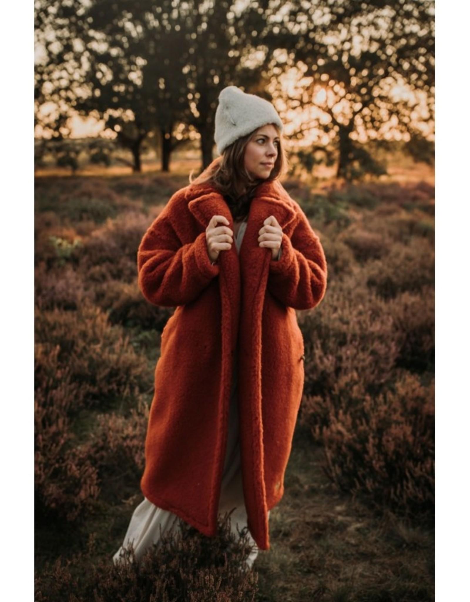 Alwero jas Moods 100% wol Brique