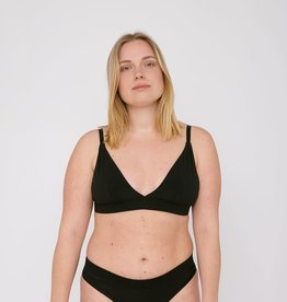 Organic Basics Organic Cotton Triangle Bra Black