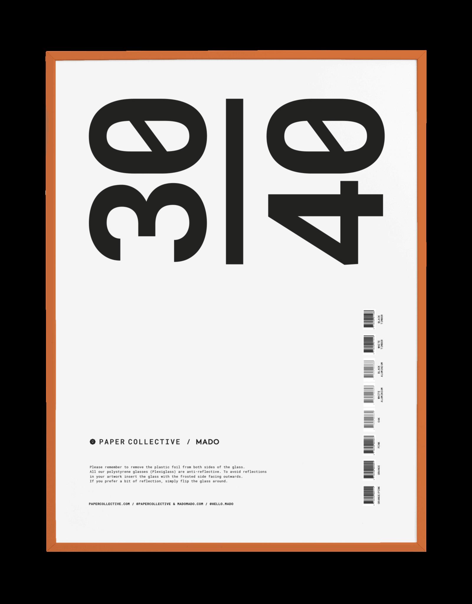Paper Collective frame eiken oranje 30x40cm