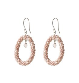 A Beautiful Story Faith Rose Quartz Silver Earring