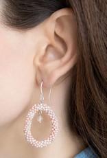 A Beautiful Story Faith Rose Quartz Silver Earring