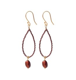 A Beautiful Story Magical Garnet Gold Earrings