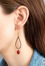 A Beautiful Story Magical Garnet Gold Earrings