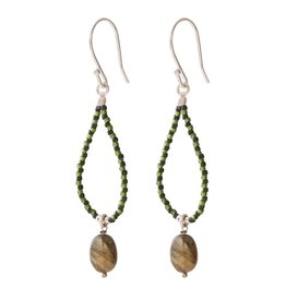 A Beautiful Story Magical Labradorite Silver Earring