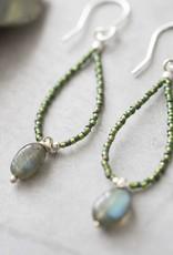 A Beautiful Story Oorbellen 'Magical' -  Labradorite Silver