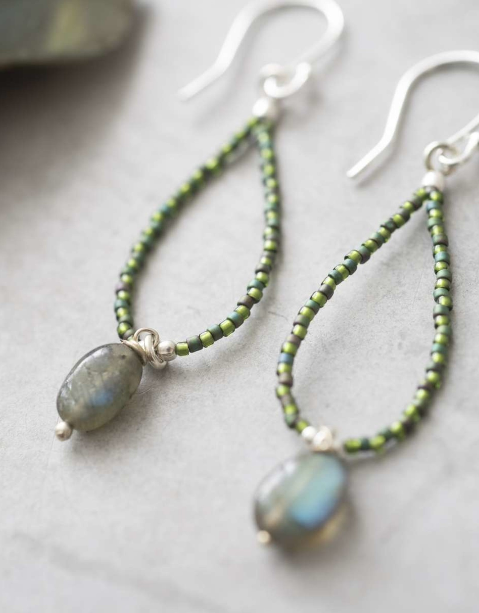A Beautiful Story Magical Labradorite Silver Earring