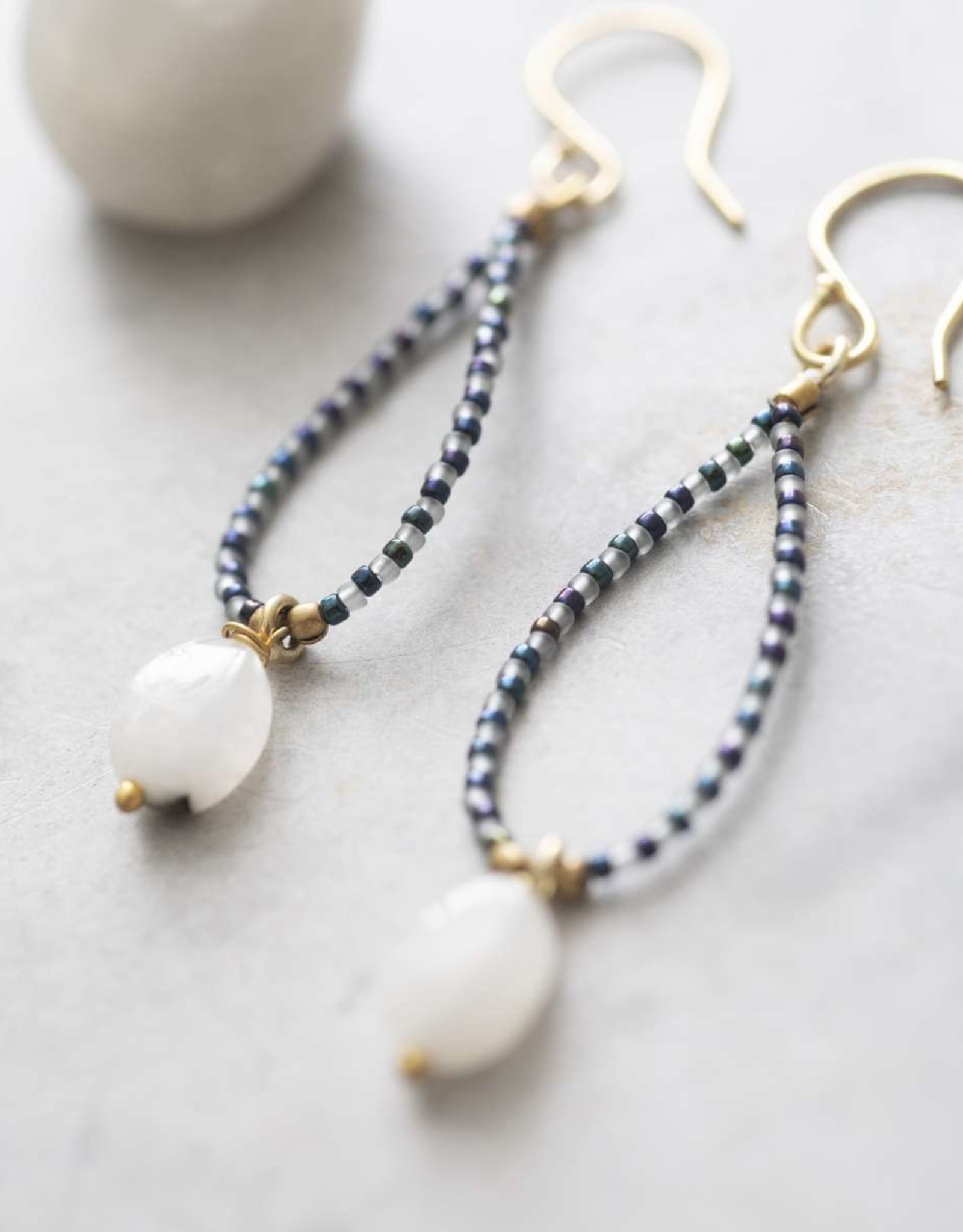 A Beautiful Story Magical Moonstone Gold Earrings