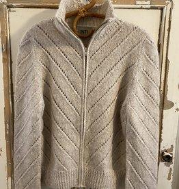 Inti Knitwear Vibeka vest met rits alpaca - almond