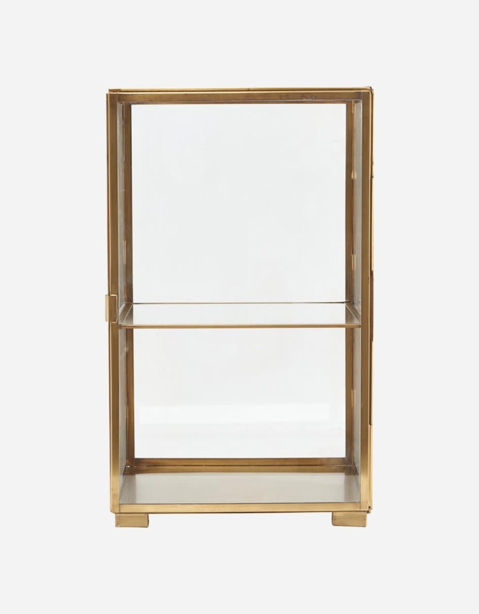 House Doctor Glazen vitrine brass
