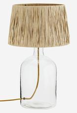 Madam Stoltz Tafellamp glas raffia