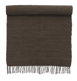 Bungalow Rug 60x90cm Chindi Mat Chocolate