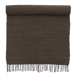 Bungalow Rug 75x250cm Chindi Mat Chocolate
