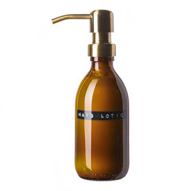 Wellmark Hand Lotion 250 ml - bruin glas / brass dop