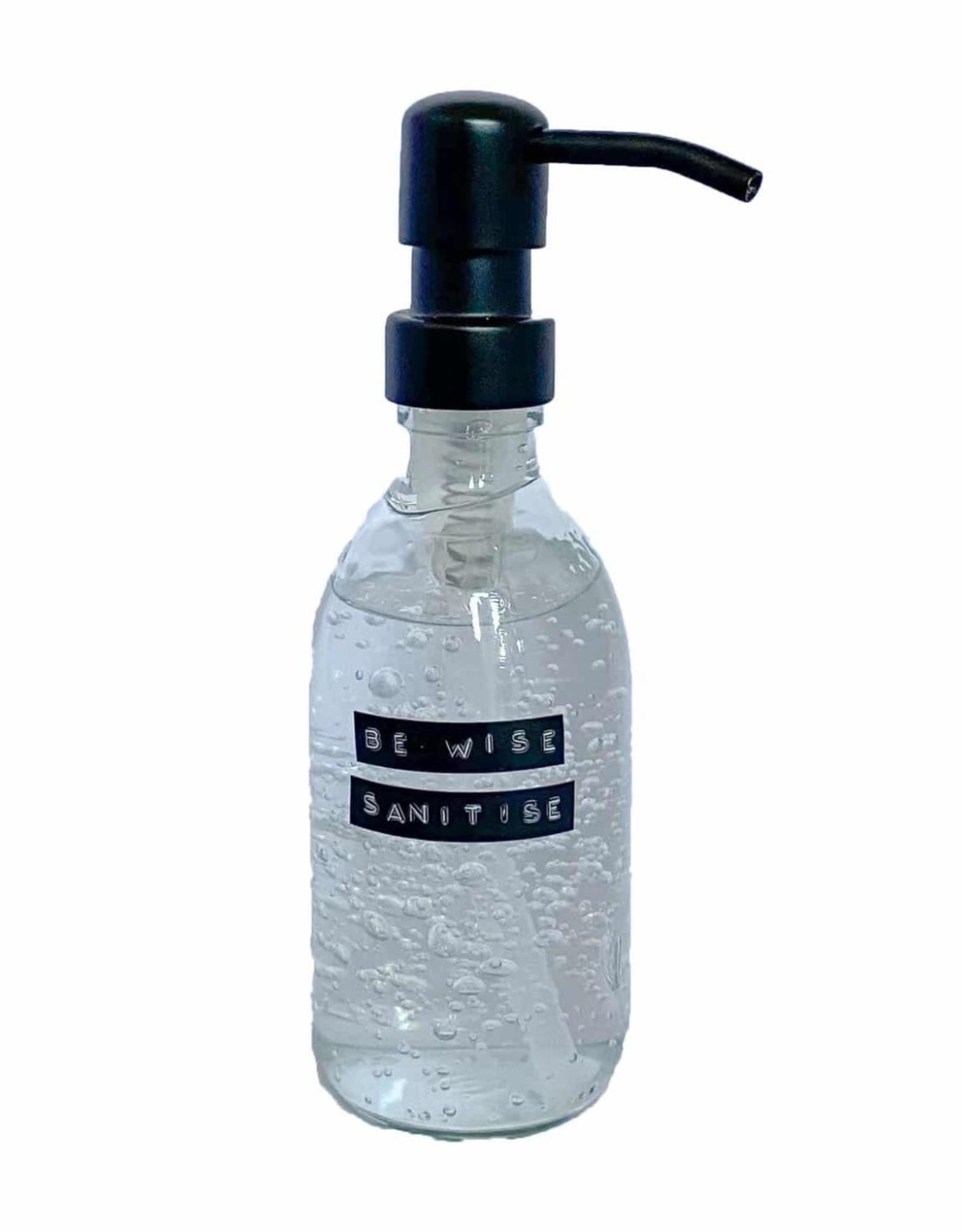 Wellmark Sanitiser helder glas / zwart