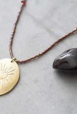 A Beautiful Story Swing Garnet Heart Necklace