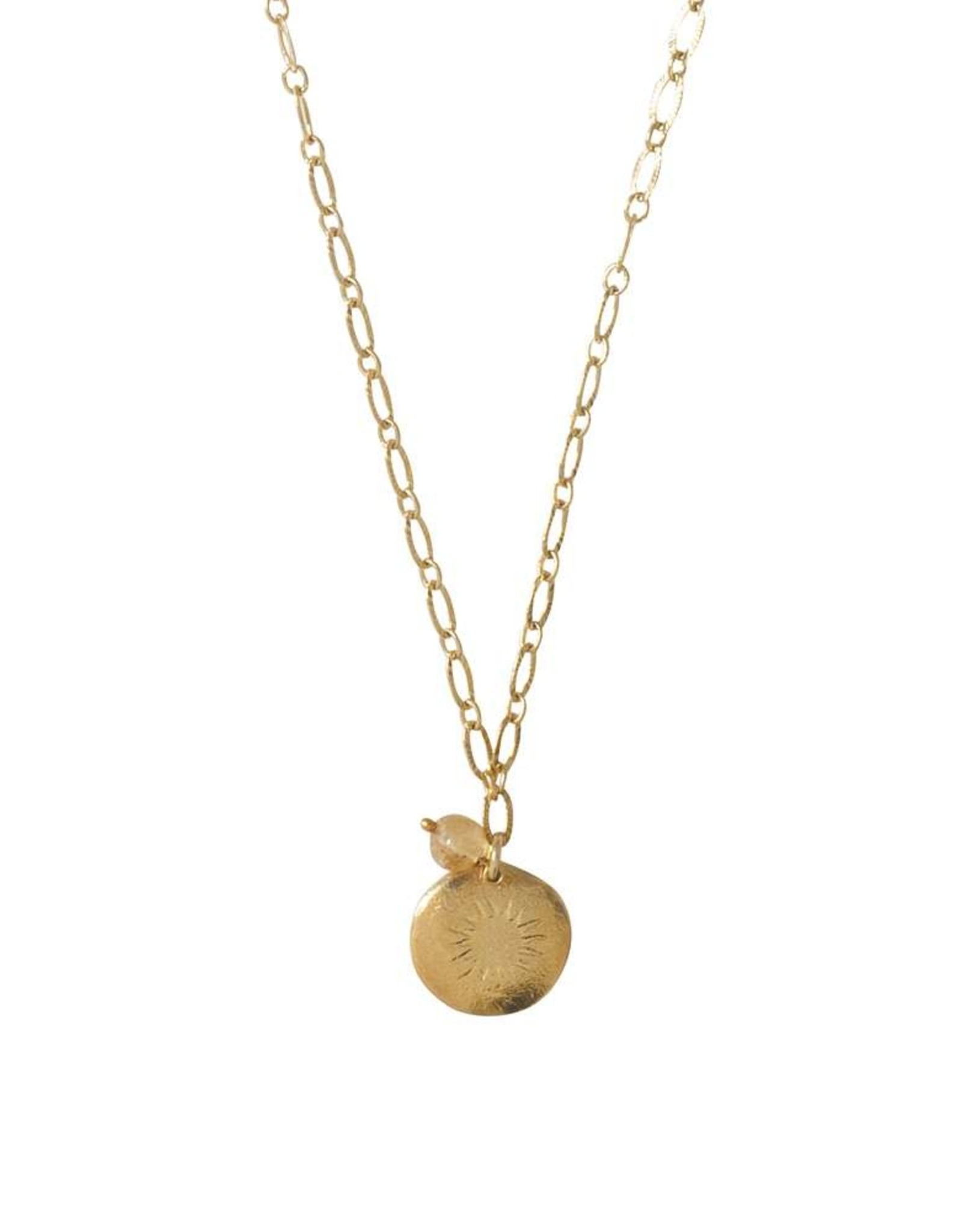 A Beautiful Story Ketting 'Rose' -  Citrine Gold