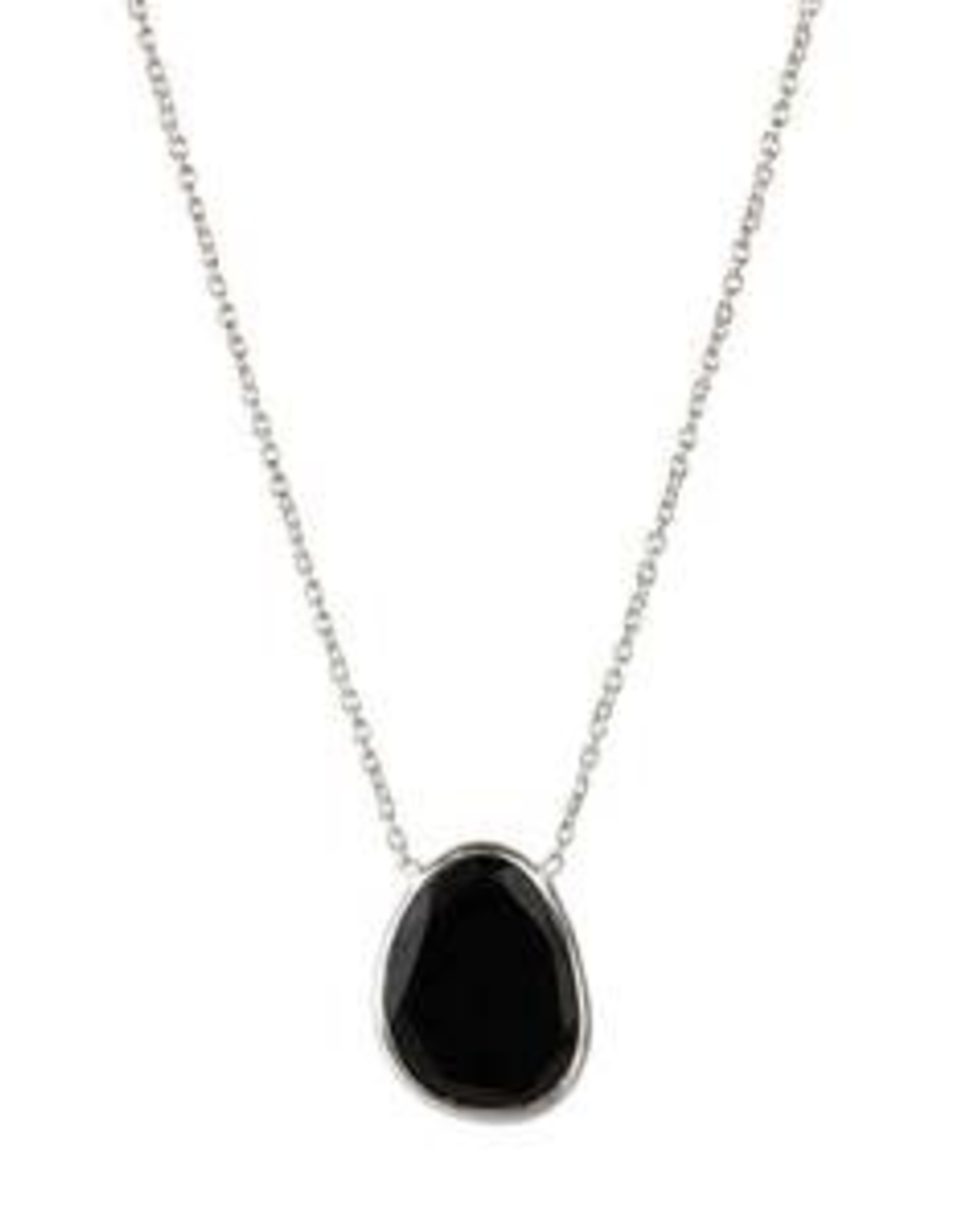 A Beautiful Story Ketting 'Tender' -  Black Onyx Sterling Silver