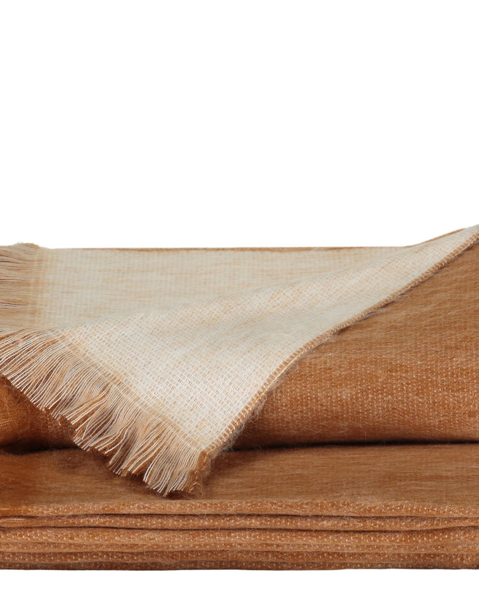 Alpacaloca Plaid Dubbel Roest/Wit
