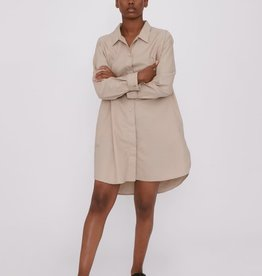 Organic Basics Oxford Long shirt Clay