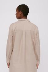 Organic Basics Oxford Long shirt Clay