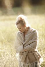 Lapuan Kankurit Maria pocket sjaal 100% wol bruin / wit