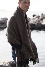 Lapuan Kankurit Maria pocket sjaal 100% wol bruin / zwart