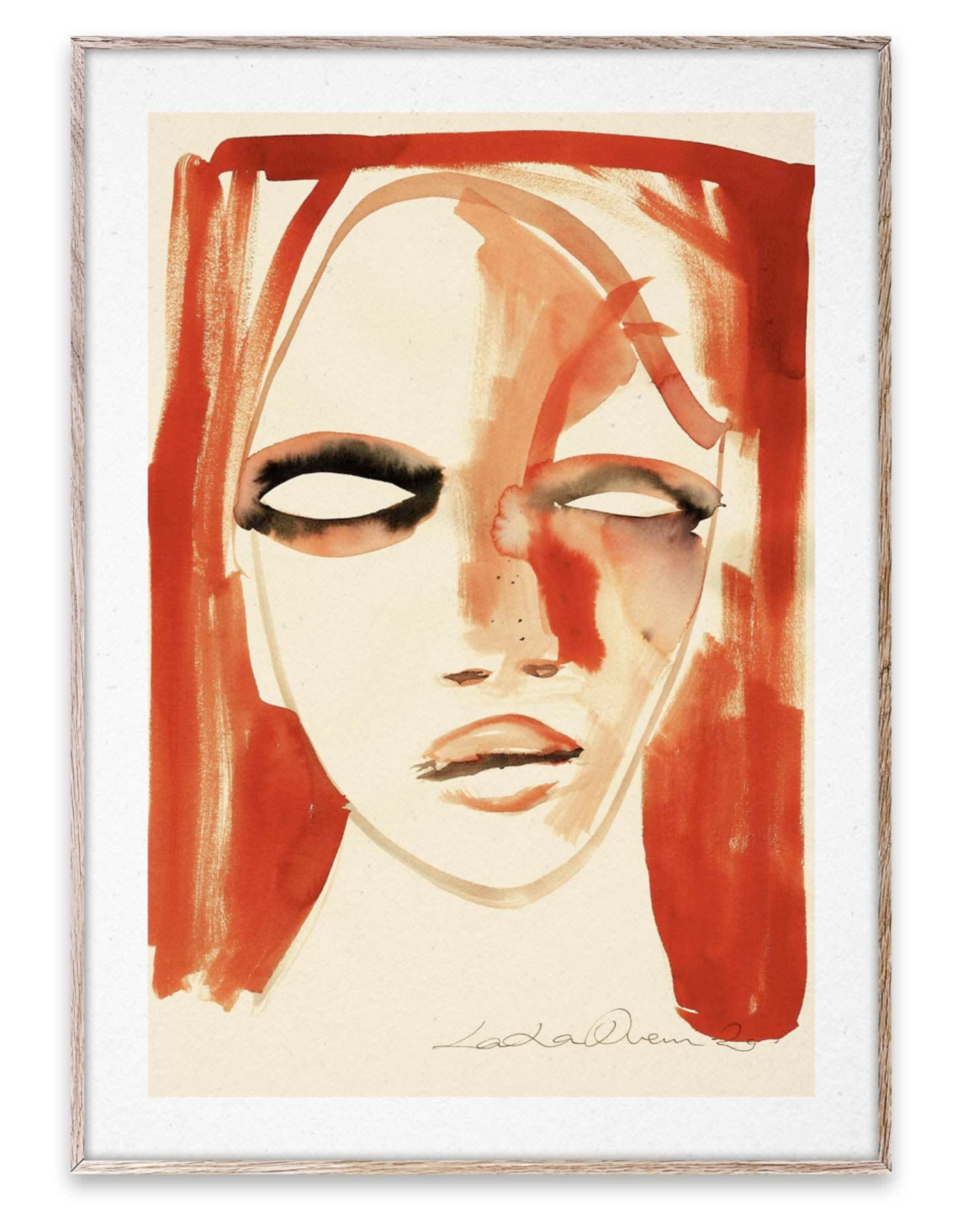 "Paper Collective ""Red Portrait"" LouLou Avenue"