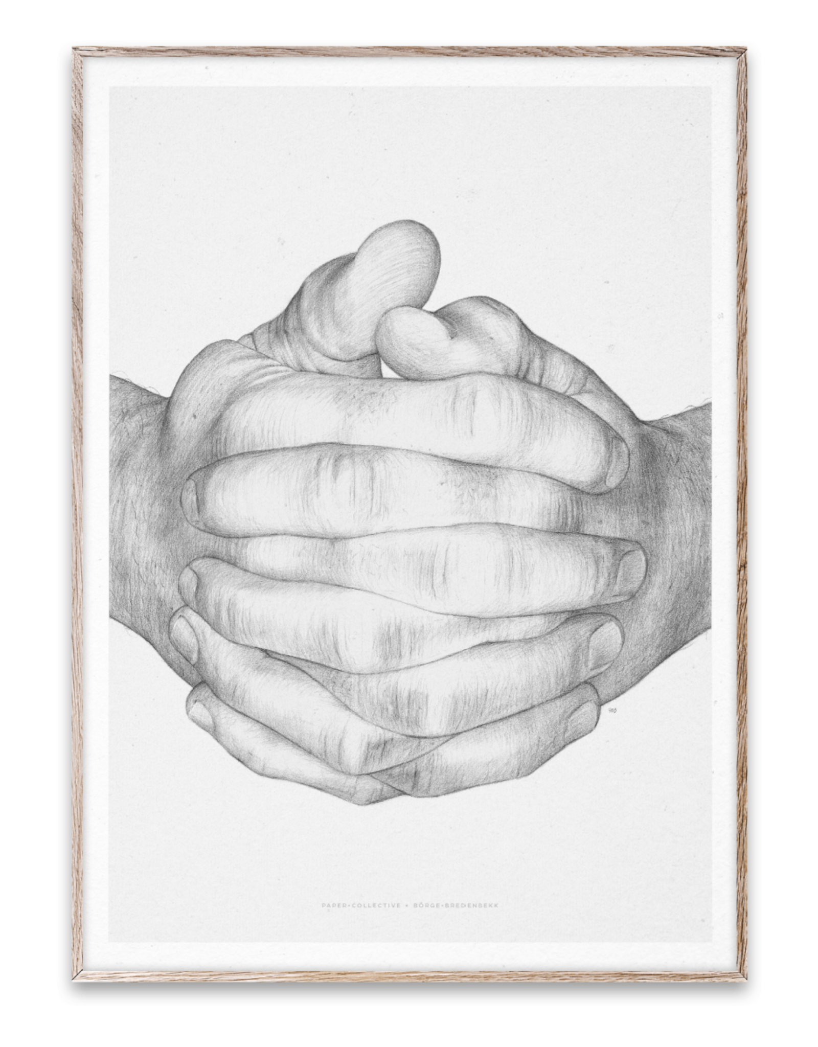 Paper Collective Art Card Folded Hands