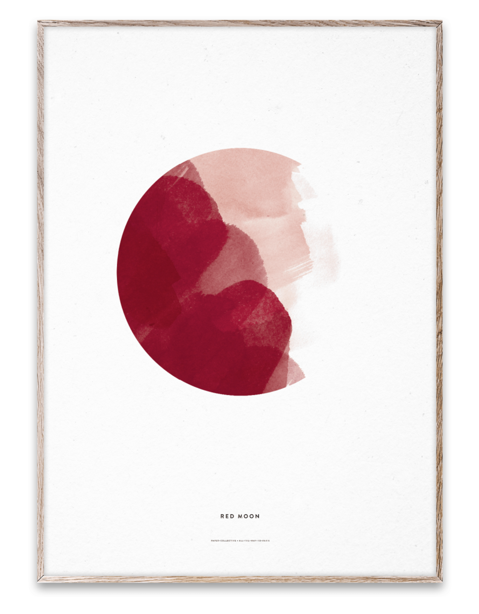 Paper Collective Art Card Red Moon