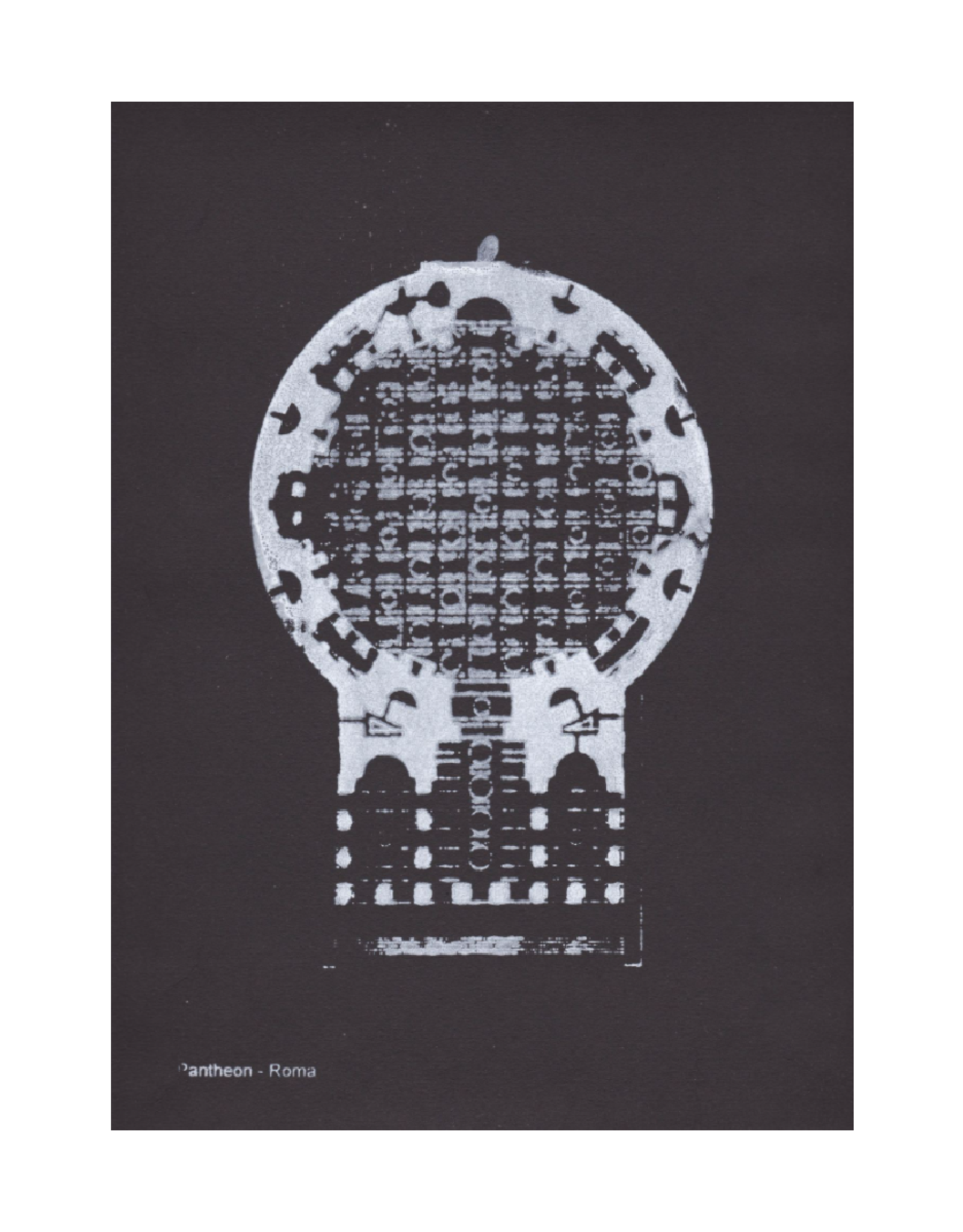 Pernille Folcarelli Artcard A5 Pantheon 1 Roma