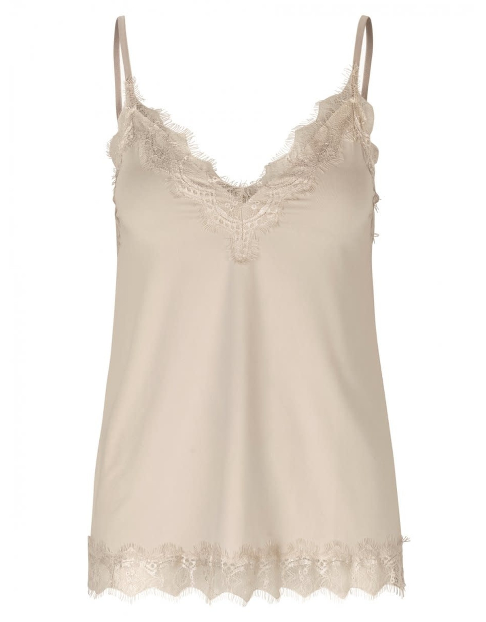 Rosemunde Strap top with Lace - Misty Sand