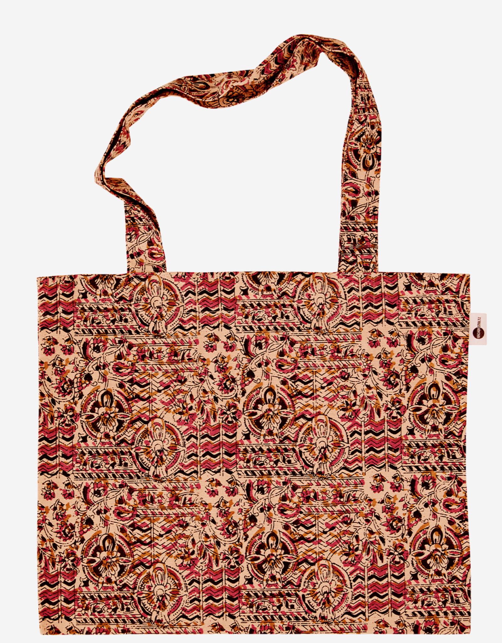 Madam Stoltz Tote bag cotton with print