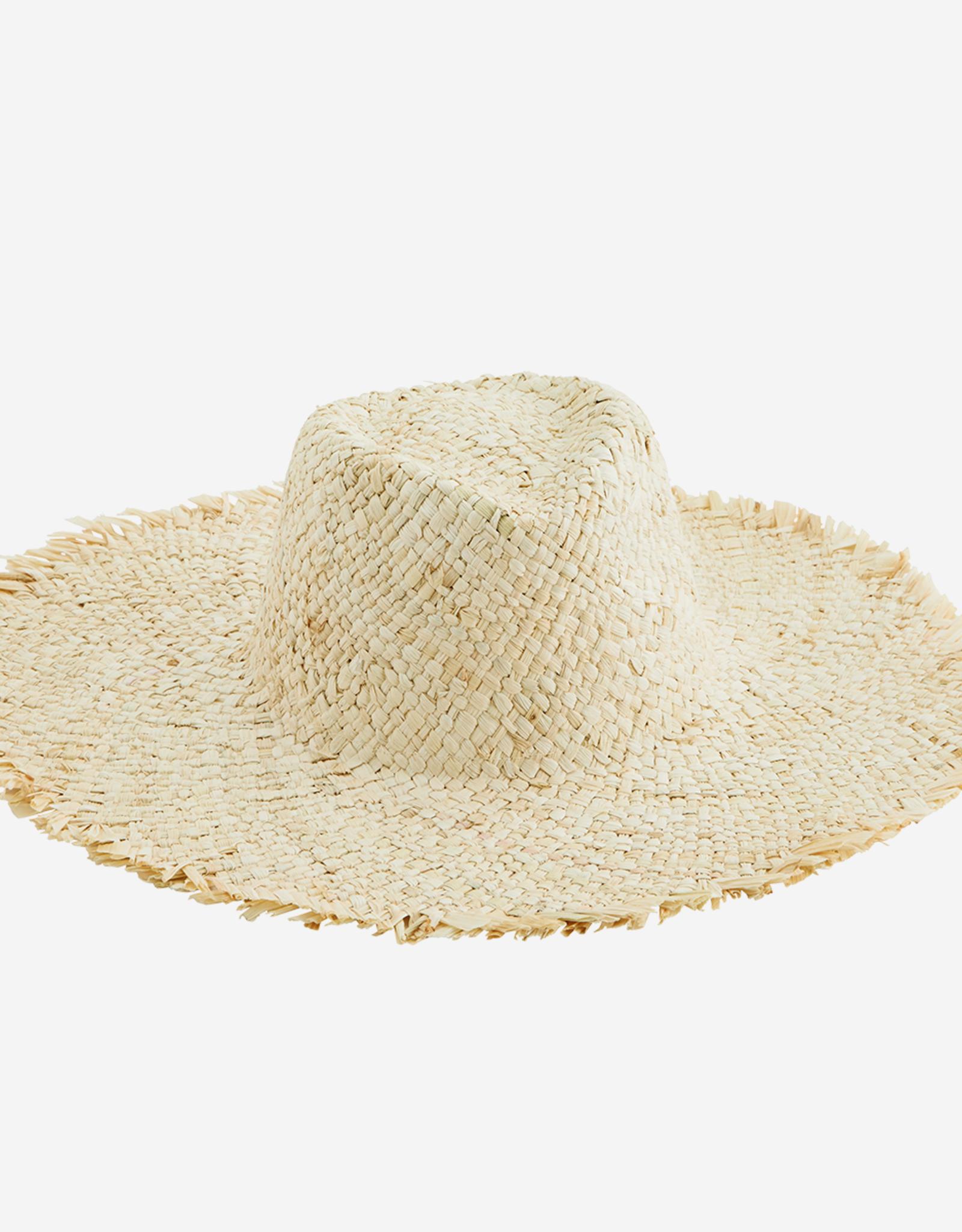 Madam Stoltz Corn husk Hat