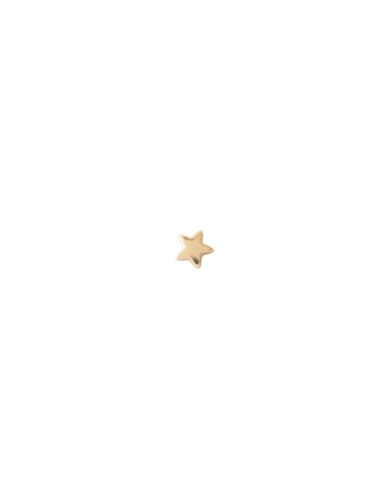 A Beautiful Story Oorbel 'Symbol' - Star Goud