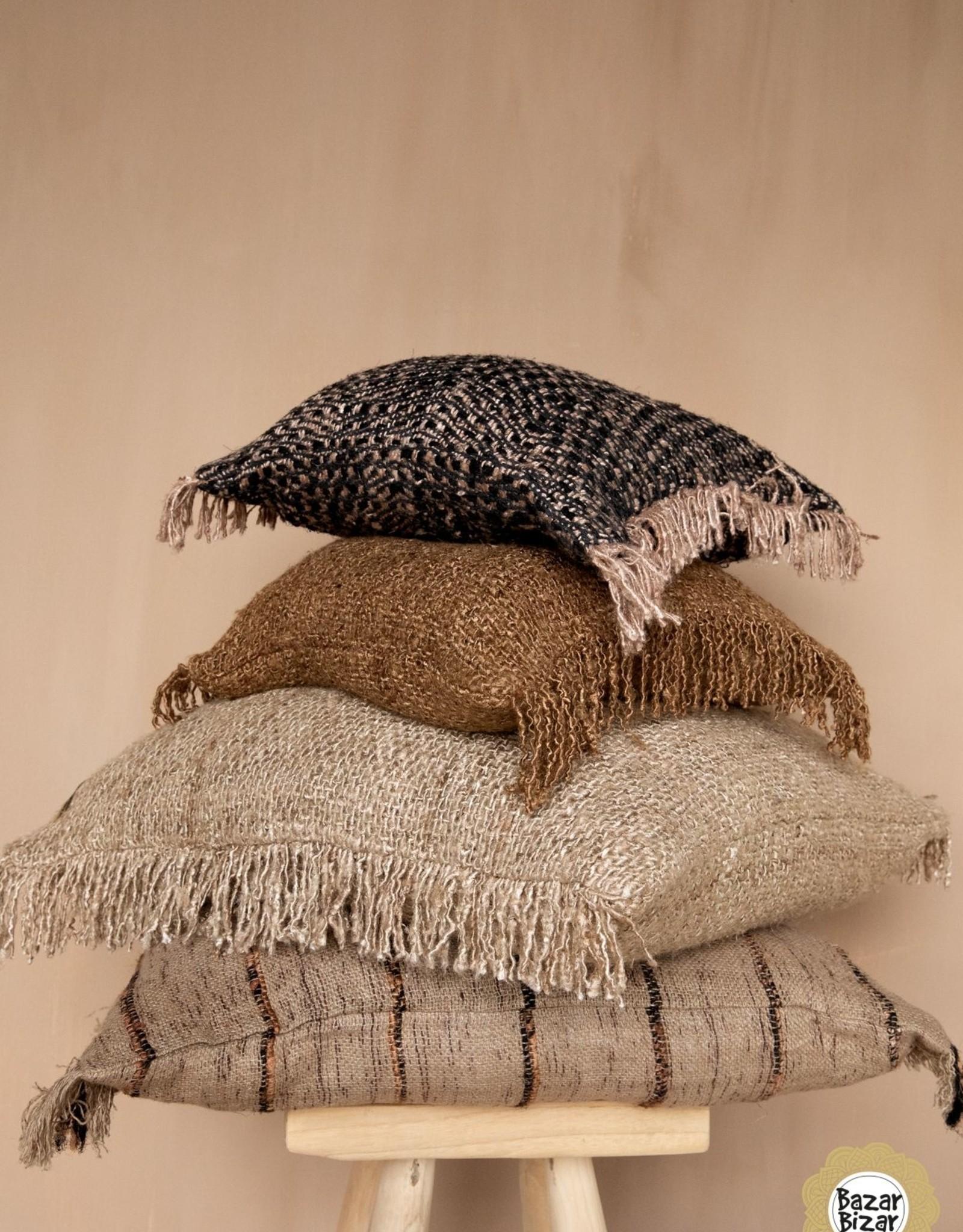 Bazar Bizar The Oh My Gee Cushion - Black/Copper  40x40