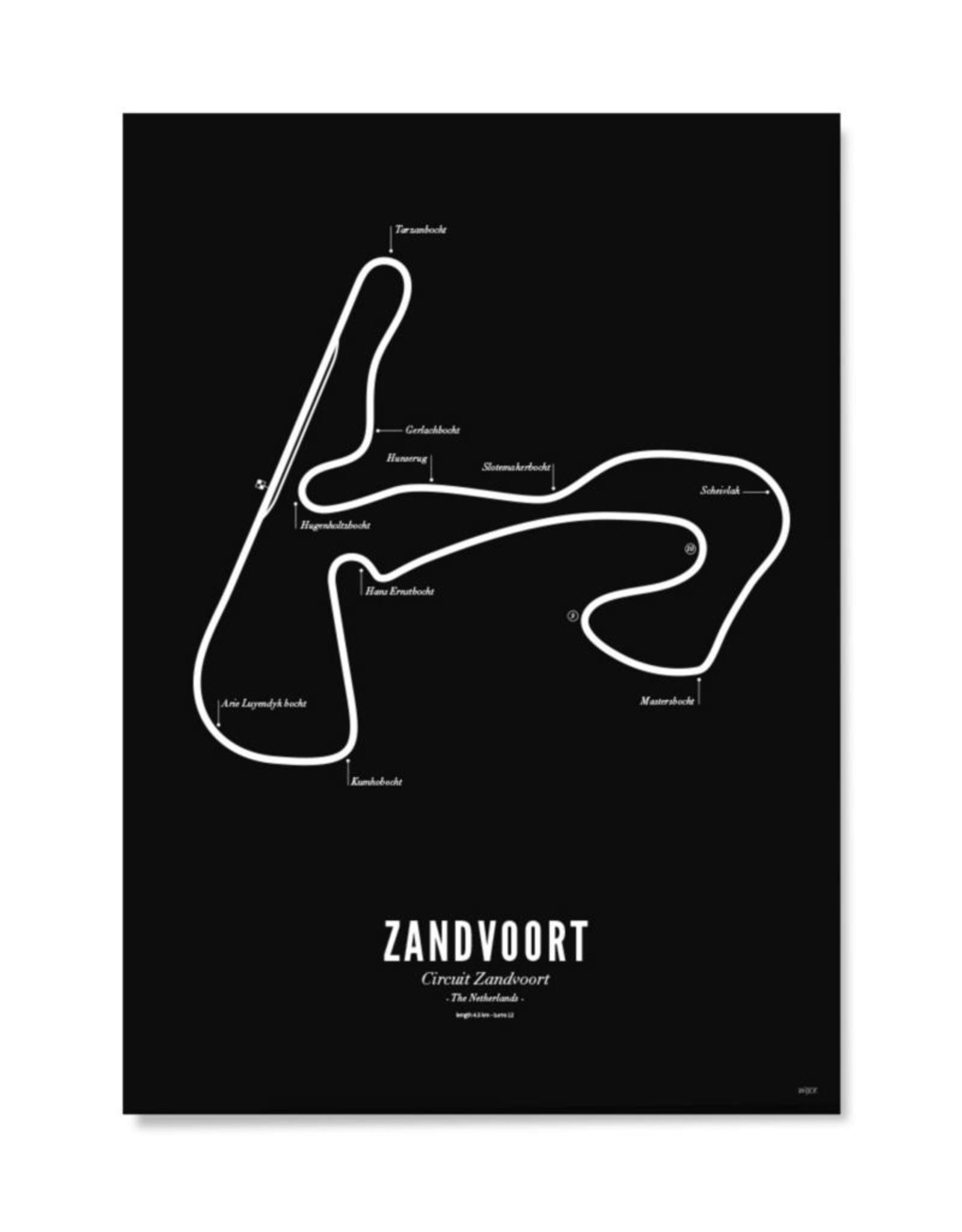 Wijck Kaart Circuit Zandvoort Zwart