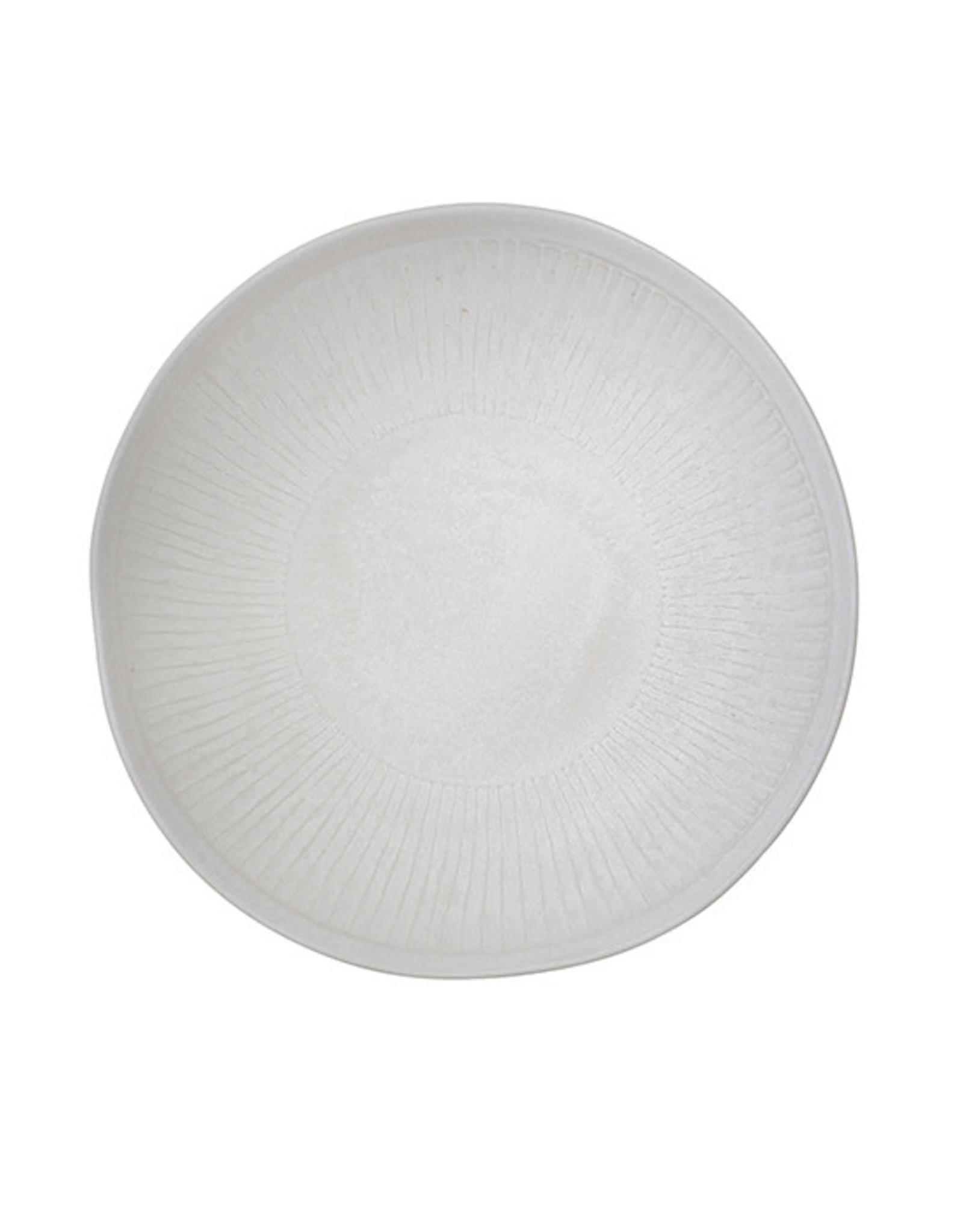 """Bungalow Schaal aardewerk 'Shell"""" wit"""