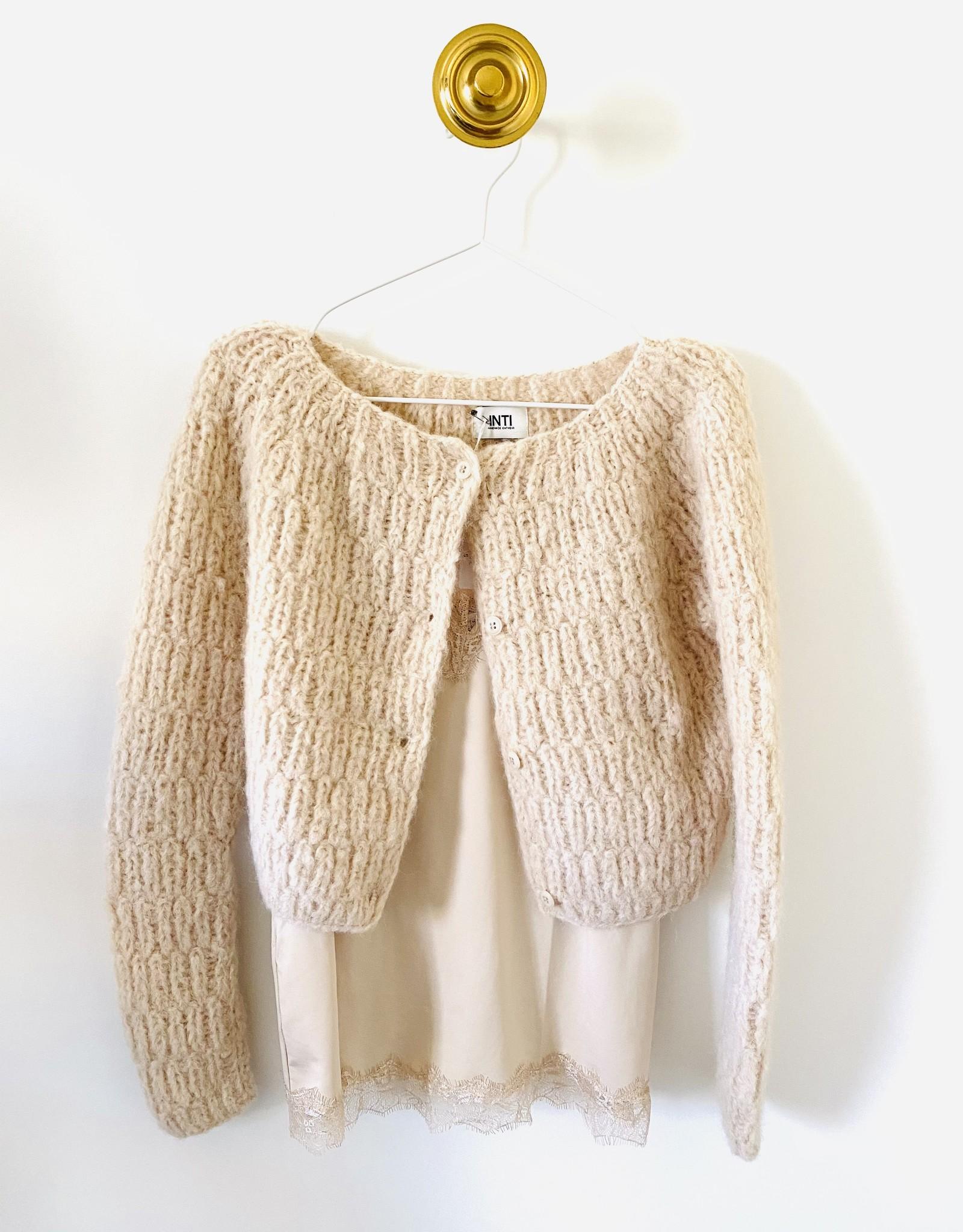 """Inti Knitwear vest 'Elisa"""" Marfil"""